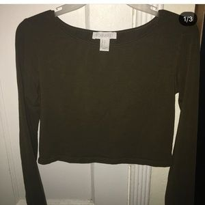 Green crop top from forever 21